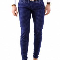 Pantaloni albastri - pantaloni barbati - pantaloni office - 7918B2, Marime: 33, Culoare: Din imagine