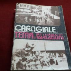 CARAGIALE - TEMA SI VARIATIUNI - Nuvela