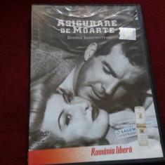 DVD FILM ASIGURARE DE MOARTE - Film drama Altele, Romana
