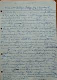 Scrisoare olografa Petru Groza catre Cleja Stefan , Batal. 3 Dorobanti , 1943