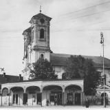 Lugoj - Bazarul si Biserica Greco-Orientala - necirculata, Fotografie