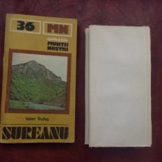 Carte - Colectia muntii nostri nr 36 - Sureanu - 1986 / 176 pagini cu harta !!! - Ghid de calatorie