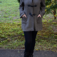 Jachete de toamna-iarna, culoare bej, casual (Culoare: BEJ, Marime: 46) - Jacheta dama