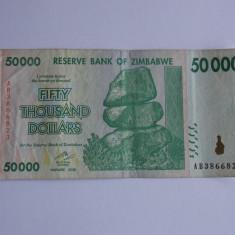 Bancnota 50000 dolari Zimbabwe - bancnota africa