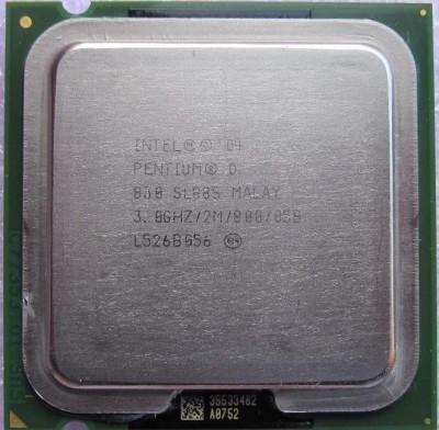 Procesor Intel Pentium D 830 D830    3 Ghz socket 775 foto