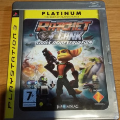 PS3 Ratchet & Clank Tools of destruction Platinum - joc original by WADDER - Jocuri PS3 Sony, Actiune, 3+, Single player