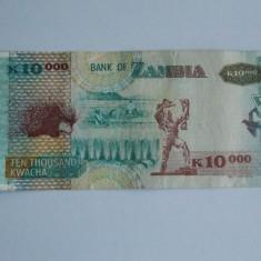 Bancnota 10000 kwacha Zambia 2008 -necirculata - bancnota africa