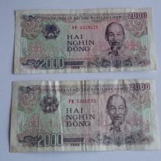 Bancnota 2000 dong 1988 Vietnam - bancnota asia