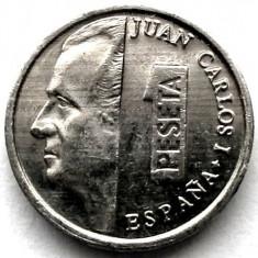 SPANIA, JUAN CARLOS I, 1 PESETA 1993, Europa, Aluminiu