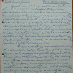 Scrisoare Petru Groza catre General Dumitrache, C-dtul Div. 5 Vanatori, 1942 - Autograf