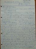 Scrisoare olografa Petru Groza catre Gh. Serban , Deva , 1942