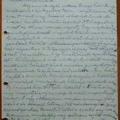Scrisoare olografa Petru Groza in maghiara, Deva, 1942 - Autograf