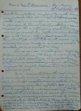 Scrisoare olografa Petru Groza catre marinescu , Regim. 1 Rosiori , 1942