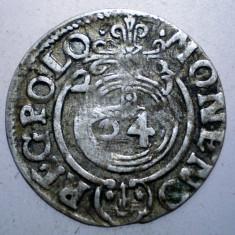 G.327 POLONIA SIGISMUND III VASA 3 POLKER 1621 ARGINT 1, 1g - Moneda Medievala, Europa