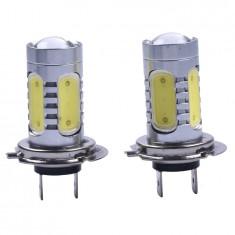 Set 2 becuri H7 COB 20W LED COB canbus White - Bec xenon