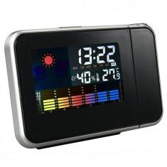 Ceas LED cu Proiectie, Termometru Higrometru Alarma pt Camera, Noptiera, DIGITAL