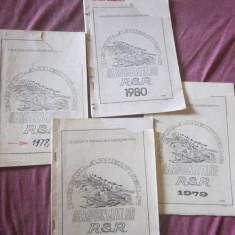 Carti sport regulamente caiac 4 buc anii 1977 1978 1979 1980 - Carte sport