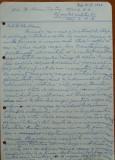 Scrisoare olografa Petru Groza catre Manu Petru , Divizia 17 A.A. , 1943