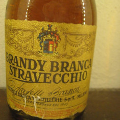 Brandy STRAVECCHIO f.lli branca, italy, puro distillato di vino cl 70, gr 38 - Cognac
