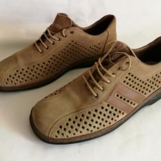 Pantofi de vara - Sandale barbati Adidas din piele Rieker Antistress mar.44, Culoare: Maro
