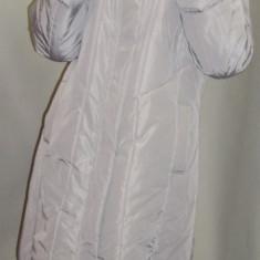 Jacheta dama de toamna-iarna, gri cu gluga si blanita (Culoare: GRI, Marime: XXXL-46)