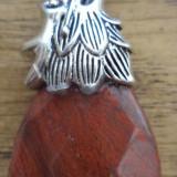 Pandantiv jasp rosu - cap de dragon