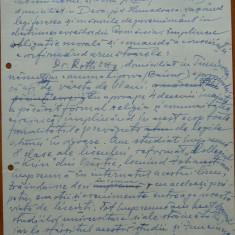 Declaratie a lui Petru Groza din 1942 fata de problema eveiasca din Romania - Autograf