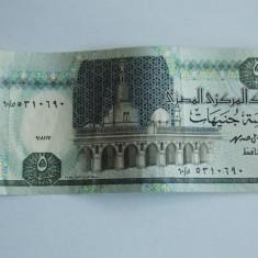 Bancnota 5 lire Egipt - bancnota africa
