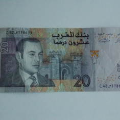 Bancnota 20 dirham Maroc - bancnota africa