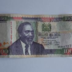 Bancnota 100 shilingi Kenya 2008 - bancnota africa