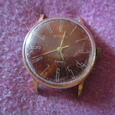 Ceas wostok functionabil placat cu aur nu are cheita originala c6 - Ceas de mana