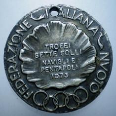 7.586 ITALIA MEDALIE INOT FEDERAZIONE ITALIANA NUOTO 1973 30mm/15, 5g, Europa