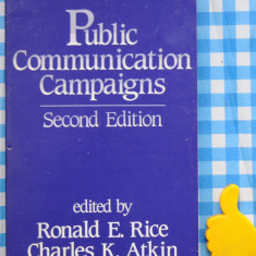 Public Communication Campaigns Ronald E Rice Charles K Atkin - Carte de publicitate
