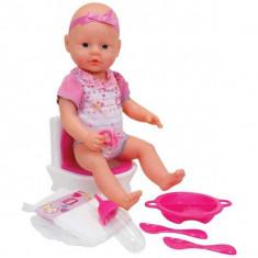 Papusa New Born Baby care face pipi la wc cu sunete 5032483 Simba