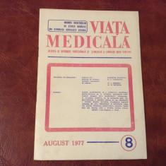 revista Viata Medicala - nr 8 / august - anul 1977 !!!