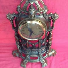Ceas de Semineu din antimoniu - Functional !!!