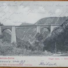 Oravita - Anina ; Viaductul, circulata, 1905 - Carte Postala Banat 1904-1918, Printata