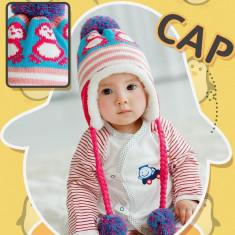 Caciula de iarna imblanita pentru copii - Caciula Copii, Culoare: Roz, Marime: 48