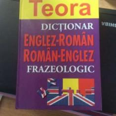 Dictionar frazeologic englez-roman dublu teora