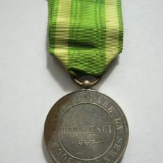 Societatea de Dare la Semn Bucuresci / Bucuresti, pre 1900, alama argintata - Decoratie