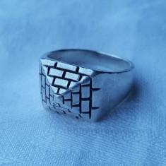 Inel argint Vechi executat manual Masiv Impunator de Efect vintage