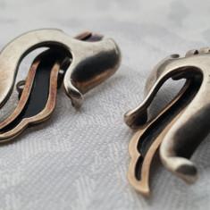 Cercei argint Sterling ARIPI de INGER partial aurite Eleganti de Efect Vintage