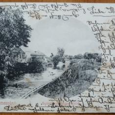 Temesvar, Timisoara, Bega, circulata, 1909, clasica - Carte Postala Banat 1904-1918, Printata