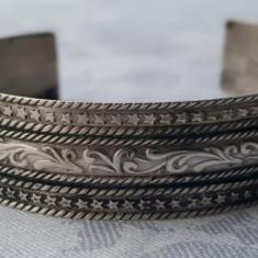 BRATARA argint BEDUIN etnica TRIBALA EGIPT lata VECHE reglabila SPLENDIDA