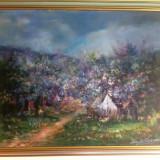 Tablou Ioan Matasareanu, ulei pe panza-primavara - Pictor roman, Peisaje, Realism