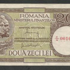 ROMANIA 20 LEI 1947 ND, XF++ a UNC [1] P-77a.1 - Bancnota romaneasca