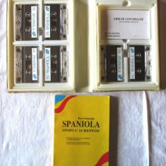 INVATATI SPANIOLA SIMPLU SI REPEDE - Curs intensiv, Manual +Ghid conv.+ 6 casete - Curs Limba Spaniola