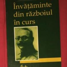 Invataminte din razboiul în curs / Radu R. Rosetti - Istorie