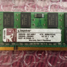Memorie laptop 4 Gb KINGSTON DDR 2 667 Mhz - Memorie RAM laptop