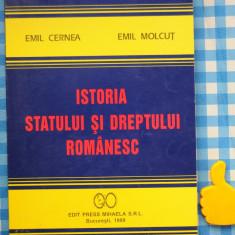 Istoria statului si dreptului romanesc Emil Cernea Emil Molcut - Carte Istoria dreptului